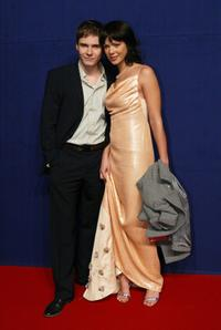 Daniel Bruhl and his girlfriend Jessica Schwarz at the Bambi Awards.