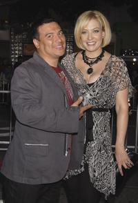 Carlos Mencia and Amy Mencia at the premiere of
