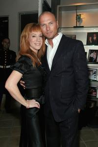Kathy Griffin and Luke Goss at the Kathy Griffin's Annual Christmas Cocktail Bash Benefiting Toys For Tots.