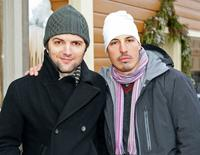 Adam Scott and Austin Chick at the 2008 Sundance Film Festival.