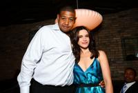 Omar Benson Miller and Valentina Cervi at the pre-party premiere of