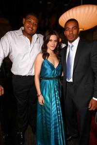 Omar Benson Miller, Valentina Cervi and Laz Alonso at the pre-party premiere of