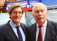 Director Julian Fellowes and Nigel Havers at the premiere of