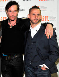Michael Eklund and Dominic Monaghan at the premiere of