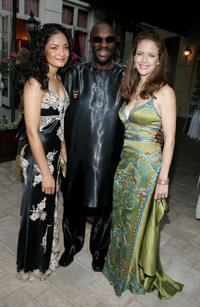Isaac Hayes and Kelly Preston at the Church of Scientology Celebrity Centre 36th Anniversary Gala.