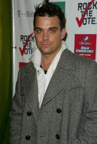 Robbie Williams at the 2003 Rock the Vote Awards.