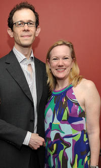 Adam Godley and Kathleen Marshall at the 2011 61st Annual Outer Circle Critics Awards in New York.
