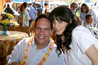 Diedrich Bader and Zooey Deschanel at the after party of the premiere of
