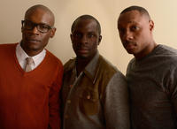 Darien Sills-Evans, Gbenga Akinnagbe and Dorian Missick at the portrait session of