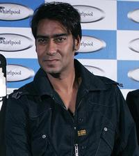 Ajay Devgan at the launch of Whirlpool products in New Delhi.