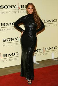 Beyonce Knowles at the Sony/BMG Grammy party.