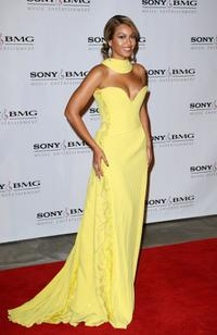 Beyonce Knowles at the Sony BMG Music 2008 Grammy Awards after party.