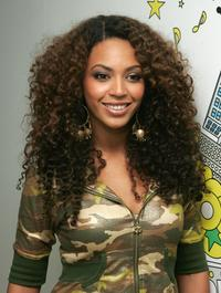 Beyonce Knowles at the MTV's Total Request Live.