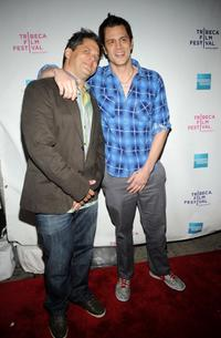 Jeff Tremaine and Johnny Knoxville at the premiere of