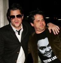 Johnny Knoxville and Jeff Tremaine at the premiere of