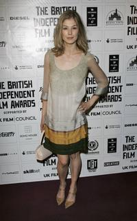 Rosamund Pike at the British Independent Film Awards.