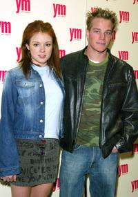 Aubrey Dollar and Marty West at the YM Magazine celebration of April MTV Issue.