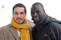 Vincent Elbaz and Omar Sy at the presentation of