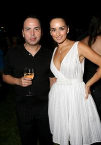 Louis Verdad and Ana de la Reguera at the 7th annual InStyle Magazine summer soiree.
