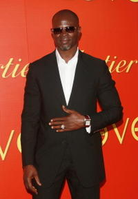 Djimon Hounsou attends a cocktail party in celebration of The Cartier Charity Love Bracelet.
