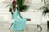 Fatou N'Diaye at the promotion of the television serie