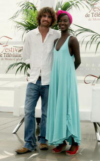 Nicolas Herman and Fatou N'Diaye at the promotion of the television serie