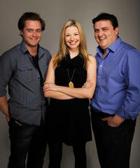 Rory Keenan, Janice Byrne and Simon Delaney at the portrait studio during the Tribeca Film Festival 2010.