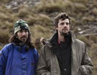 Director Anand Tucker and Matthew Goode on the set of