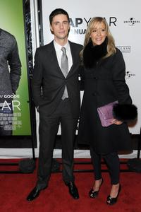 Matthew Goode and Sophie Dymoke at the New York premiere of