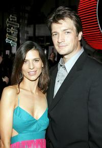 Nathan Fillion and Perrey Reeves at the premiere of
