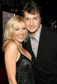 Nathan Fillion and Nectar Rose at the premiere of