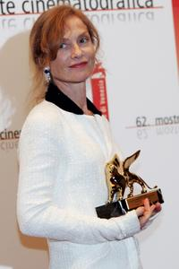 Isabelle Huppert at the 62nd Venice Film Festival.