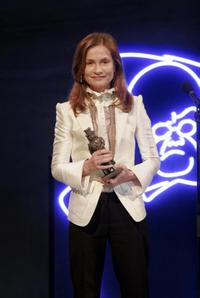 Isabelle Huppert at the during a gala celebration in Oslo.