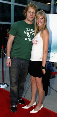 Chris Pratt and Amber Gold at the premiere of