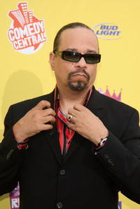 Ice-T arrive at the Comedy Central Roast of Flavor Flav.
