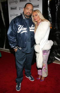 Ice-T and his wife Coco at the premiere of