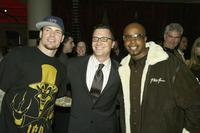 Vanilla Ice, Jordan Levin and MC Hammer at the WB Television Network's All-Star Winter TCA Party.