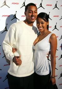 Wesley Jonathan and Denyce Lawton at the celebration of Jordan Brands launch of the Air Jordan XX2 shoe.