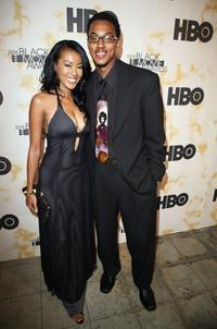 Denyce Lawton and Wesley Jonathan at the Black Movie Awards HBO after party.
