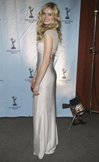 Sara Paxton at the 32nd International Emmy Awards ceremony in New York.