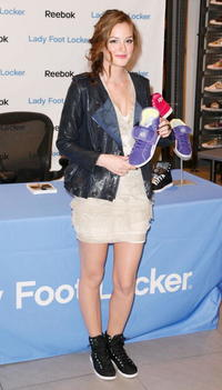 Leighton Meester at the launch of the