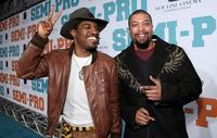 Andre Benjamin and DeRay Davis at the premiere of