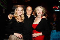 Sybilla Budd, Russell Dykstra and Annie Byron at the opening night of