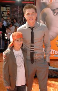 Timmy McCartney and Jesse McCartney at the premiere of