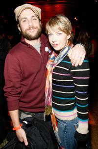 Charlie Day and Mary Elizabeth Ellis at the William Morris Agency Independent Sundance party.