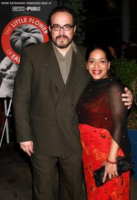 David Zayas and Liza Colon-Zayas at the opening night party celebrating the world premiere of