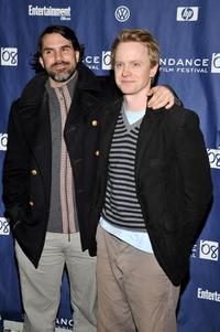 Paul Schneider and David Hornsby at the premiere of
