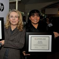 Director Courtney Hunt and Misty Upham at the AFI Awards 2008 presentation.