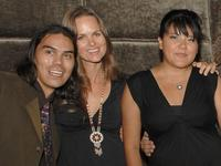Dylan Carusona, Producer Heather Rae and Misty Upham at the after party of the premiere of