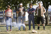 Kevin Powell (Jorma Taccone), Dave (Bill Hader), Rod Kimble (Andy Samberg) and Rico (Danny McBride) enjoy the fireworks in